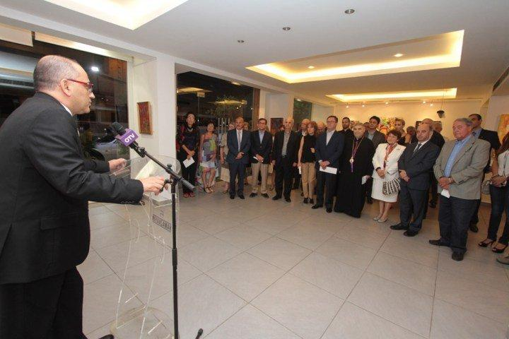 """Artist Arthur K.'s """"Golden House"""" Exhibition Opened (Lebanon)"""
