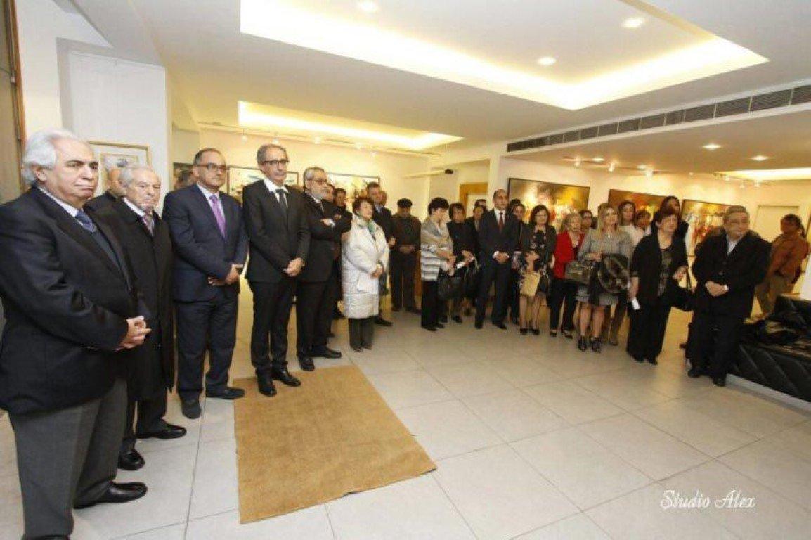 """Artist Missak Terzian's """"Voice of Silence"""" Exhibition Opened (Lebanon)"""