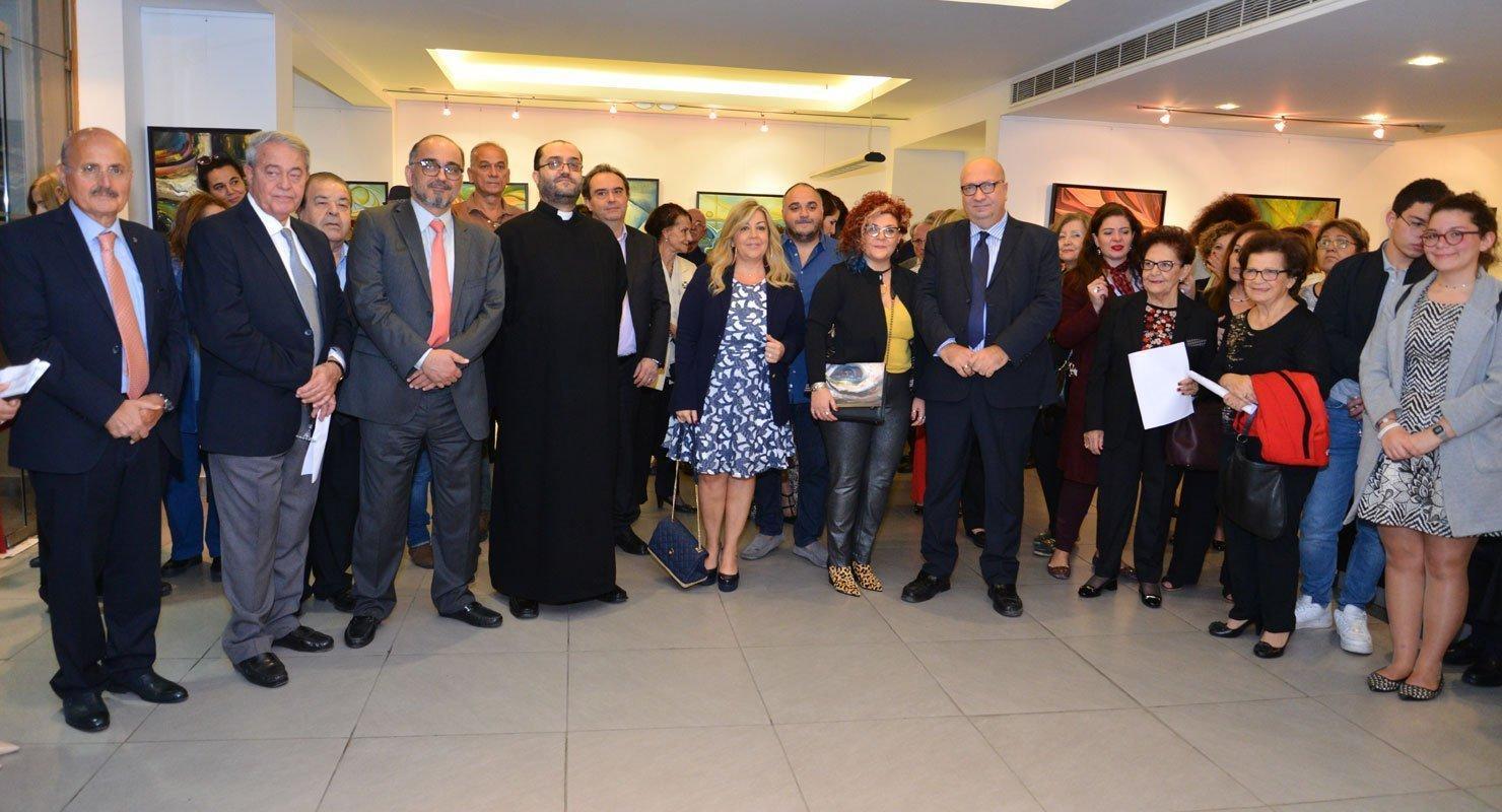 """Artist Lena Aydenian's """"Source of Hope"""" Exhibit Opens in Lebanon"""