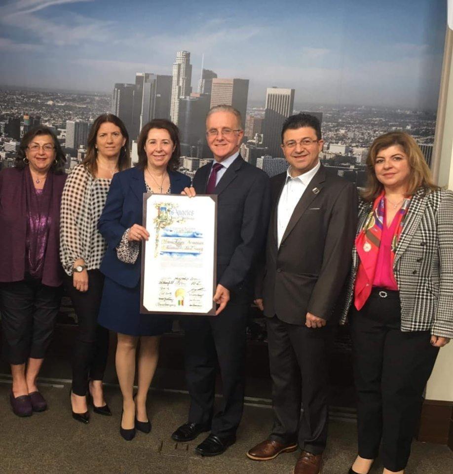 The City of Los Angeles Honors Hamazkayin