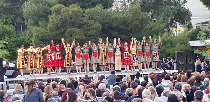 Hamazkayin Dance Ensemble Performs in Nea Smyrni in Greece