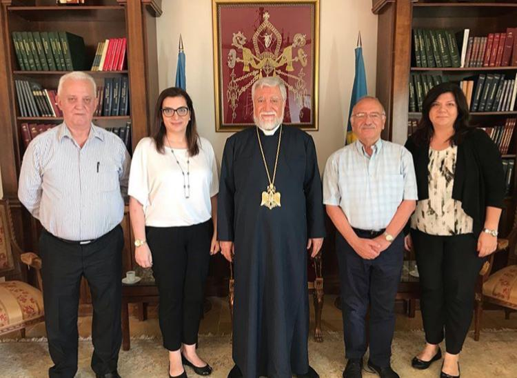 Hamazkayin's Central Executive's Visits His Holiness Aram I
