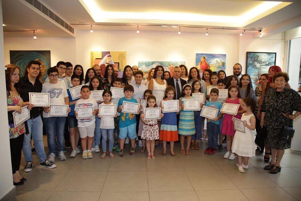 Toros Roslin Art Academy in Lebanon Holds Exhibit and Ceremony