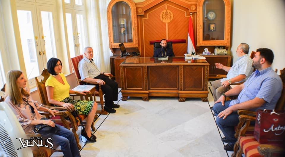 Hamazkayin Family Visits Prelate of Syria