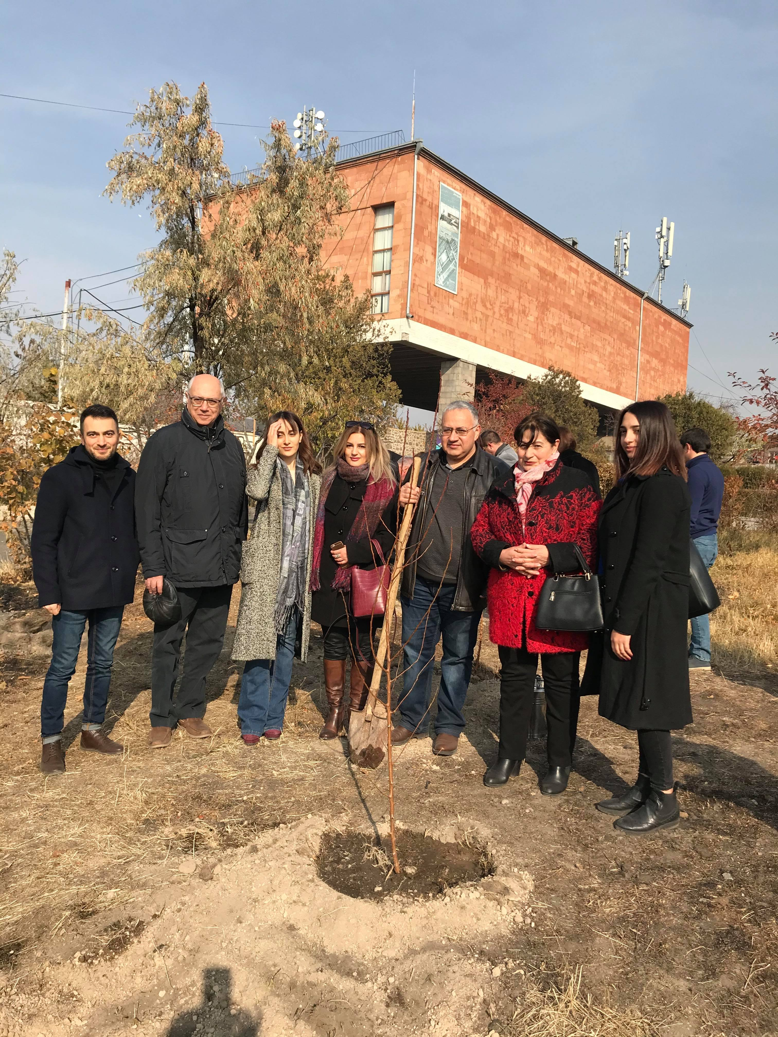 Trees Planted at Abovyan House Museum Honor Cultural Heroes